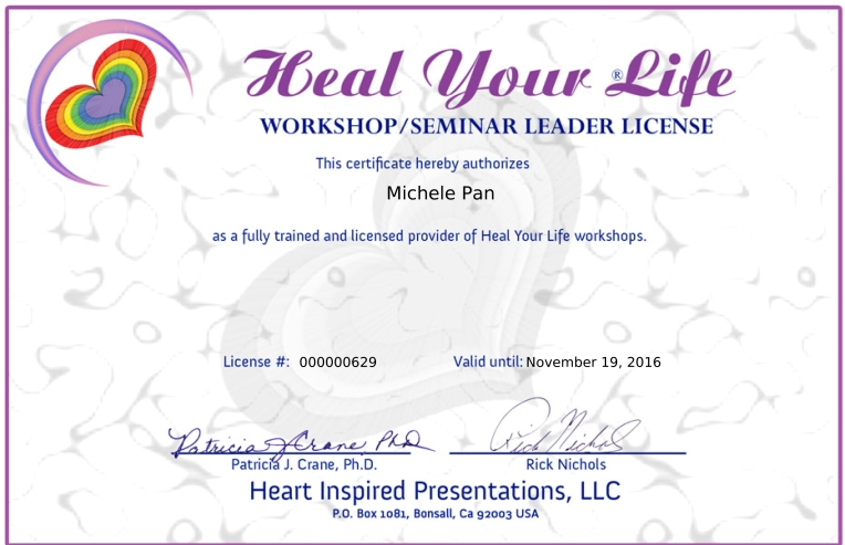 Heal Your Life Workshops Teacher License