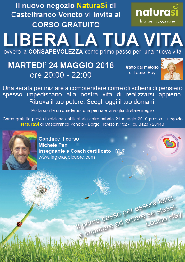 Workshop - Libera la tua vita - NaturaSi - Web